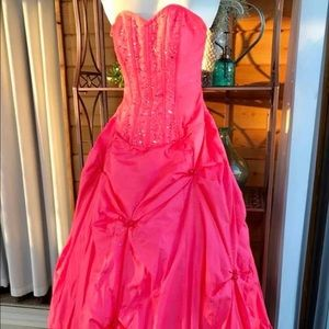 Mori Lee Gorgeous Pink Party Prom Dress
